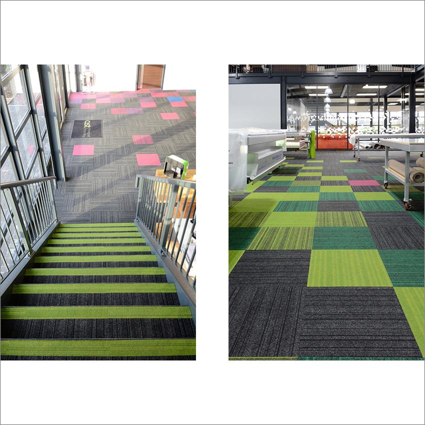 burmatex® lateral® and zip carpet tiles