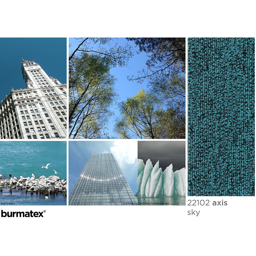 axis sky inspiration, Wriggley building Chicago, tree canopy, ice, seagulls on lake Michigan