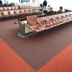 Charles de Gaulle Airport Paris strands up carpet tiles