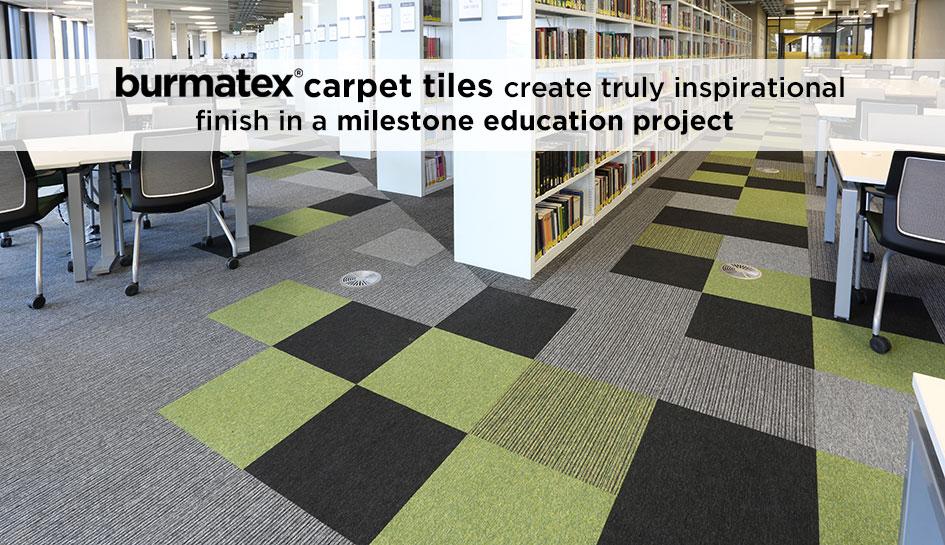 burmatex carpet tiles at Birmingham University Library