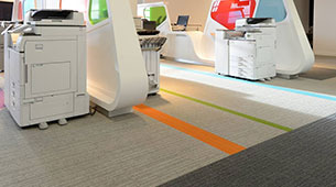 burmatex carpet tiles at Ricoh UK offices
