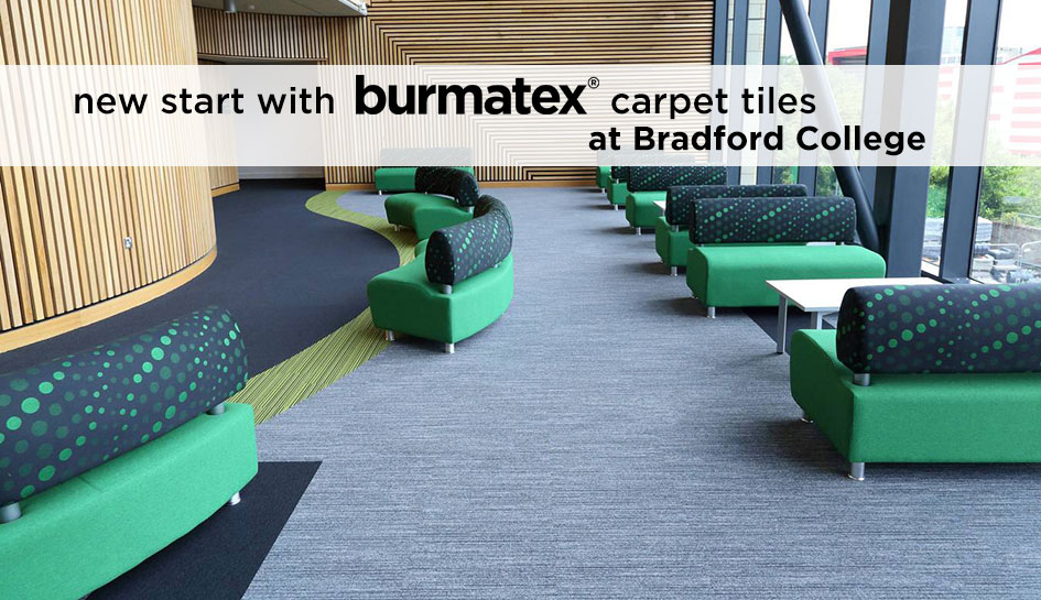burmatex carpet tiles at Bradford College