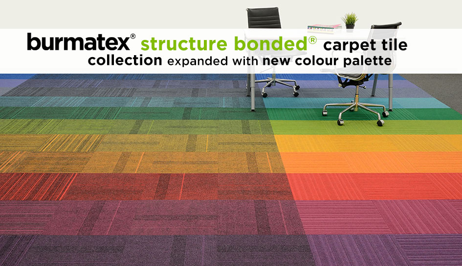 new colours in structure bonded carpet tile collection