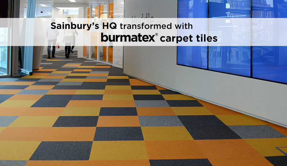 Sainsbury's HQ has been transformed with burmatex carpet tiles