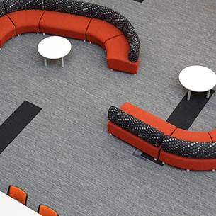 textured loop pile - contract carpet tiles