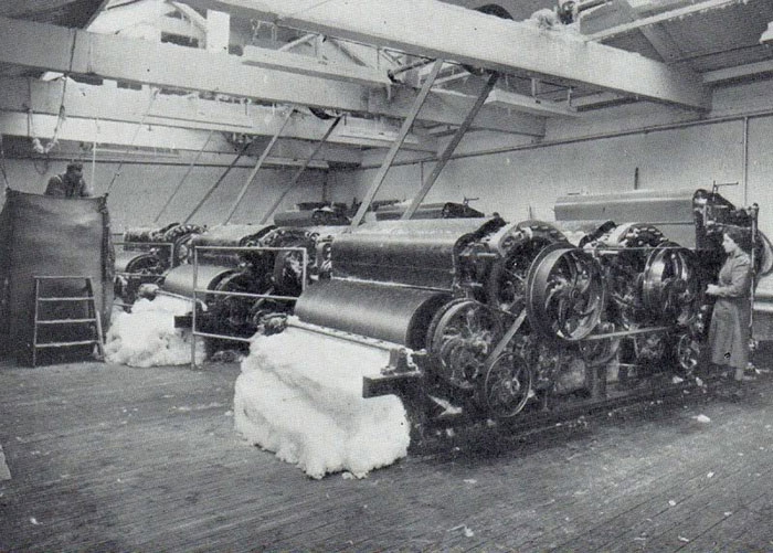 Victoria Mills in Ossett - reclaimed fibre