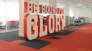 burmatex carpet tiles at virgin trains headoffice