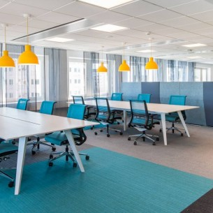 Microsoft Sweden lateral carpet tiles