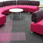 Bradford College strands, balance stripe carpet tiles