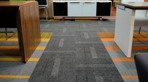 Biuro Perfect Showroom, structure bonded carpet tiles