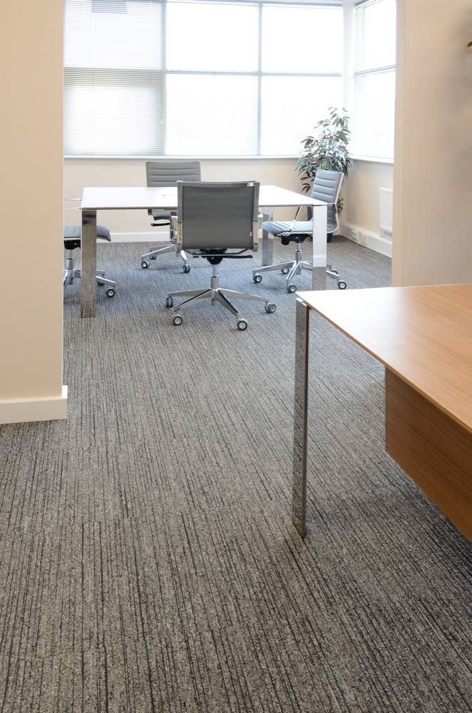 Quality Office Showroom Uses Burmatex Tandem Carpet Tiles