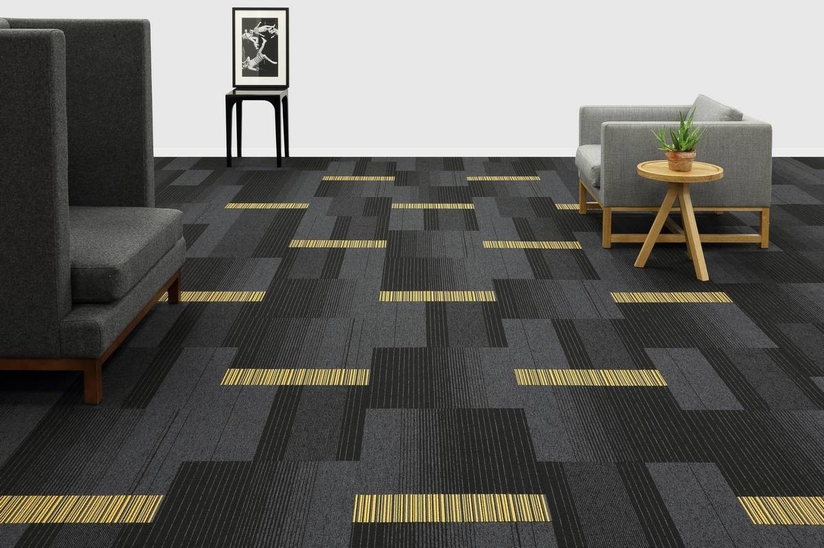 Yellow Carpet tiles and planks from burmatex®