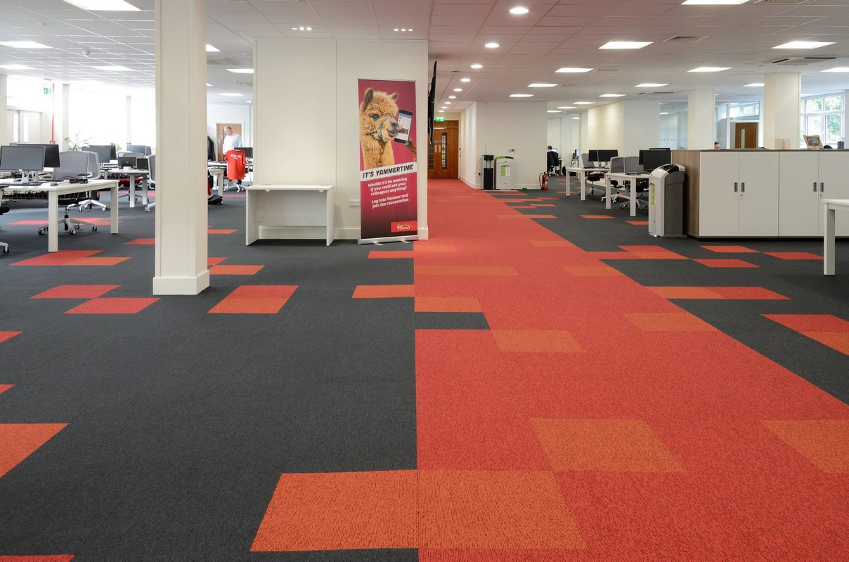 Up U0026 Balance Grayscale Carpet Tiles At Virgin Trains Head Office