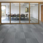 Waste Wise - grade silver and zinc carpet tiles