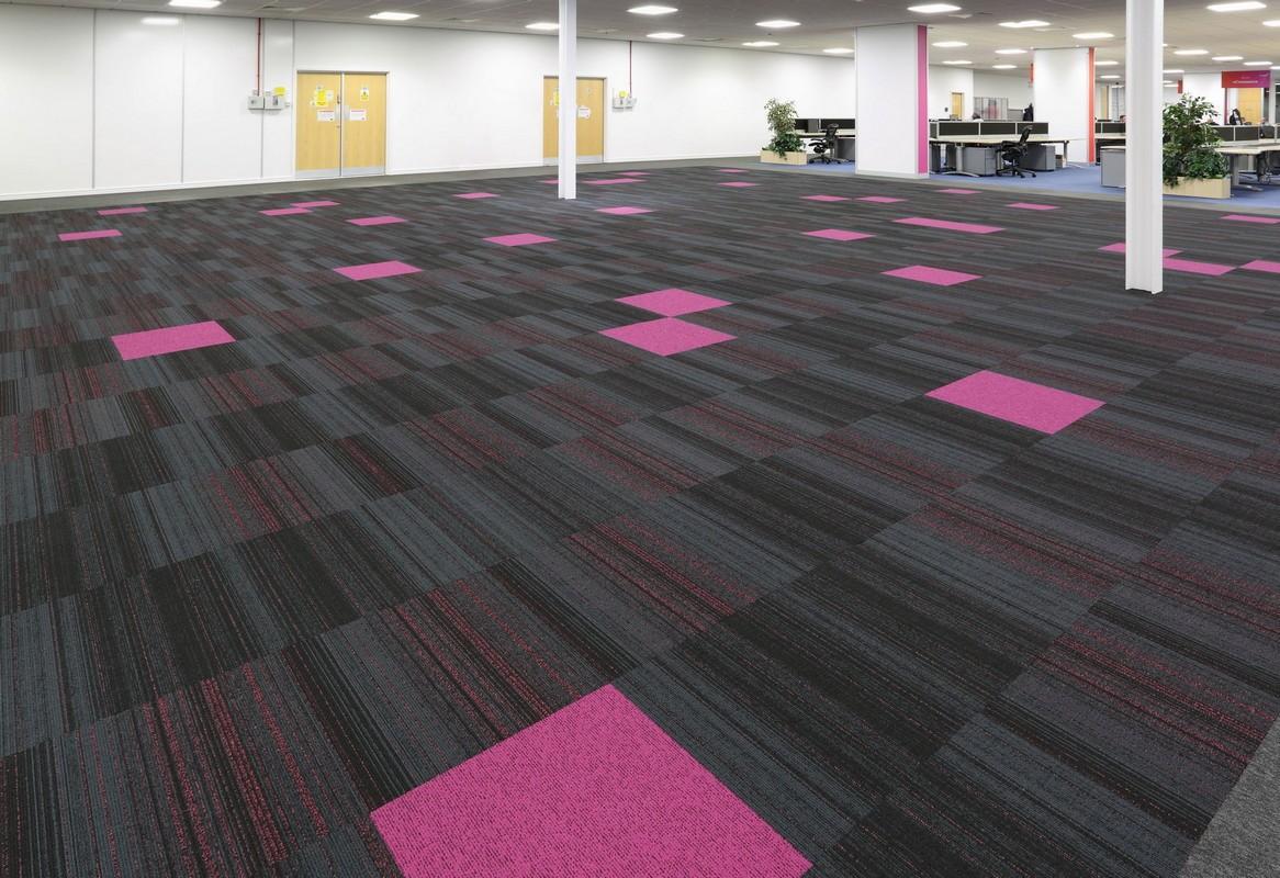 pink carpet tiles from burmatex
