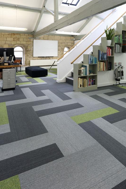 carpet planks shape flooring designs in offices | burmatex®