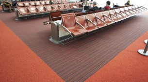 Charles de Gaulle Airport Paris strands up carpet tiles