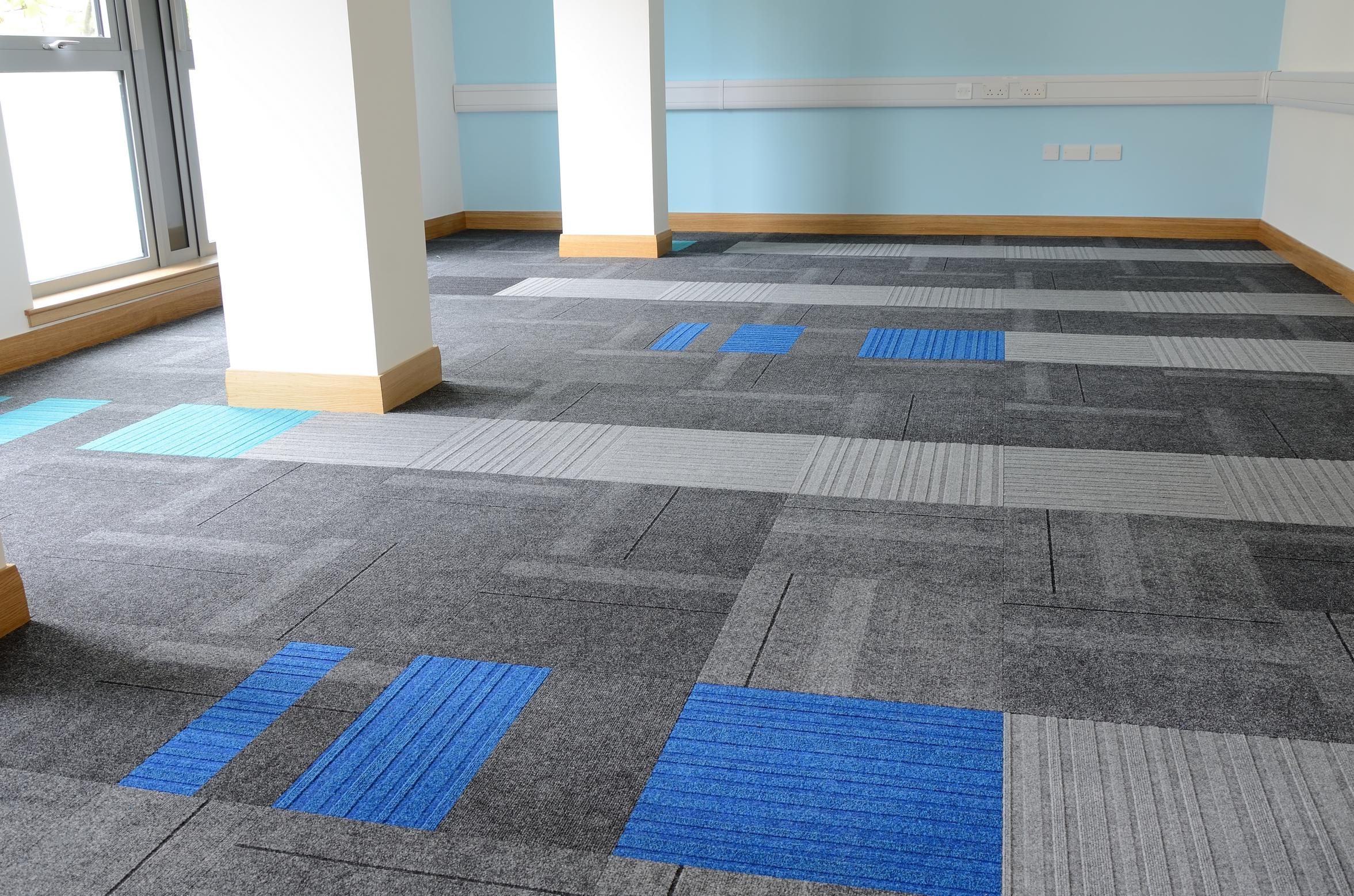 Structure Bonded 174 Carpet Tiles At Inverclyde Council In