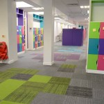 Lateral carpet tiles at St Matthew's School in Luton