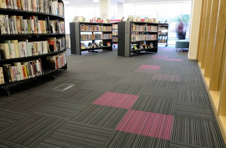 strands carpet tiles Bridgeton Library Glasgow