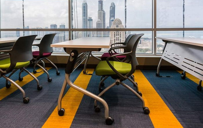 structure bonded carpet tiles in Dubai office