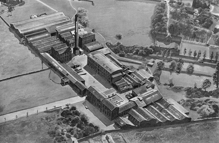 Victoria Mills in Ossett - bird view
