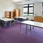 tivoli - loop pile carpet tiles in school
