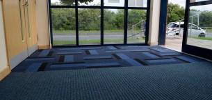 armour carpet tiles & grimebuster carpet sheet at Chapelthorpe Medical Centre