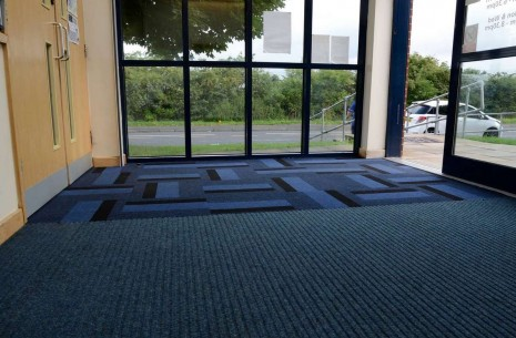 armour carpet tiles & grimebuster carpet sheet at Chapelthorpe Medical Centre