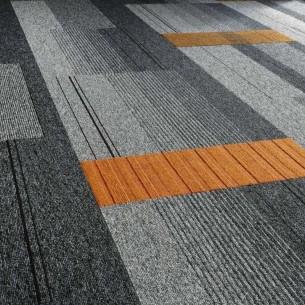 balance atomic, lateral®, zip & code carpet tiles at Ibbotson Architects Ltd