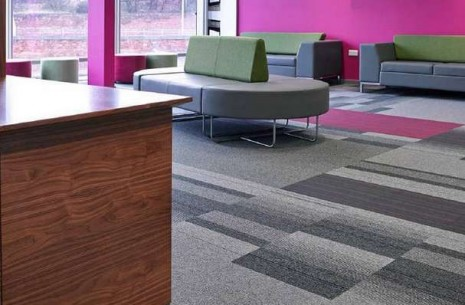 balance atomic, balance & strands carpet tiles at Royal Infirmary in Glasgow