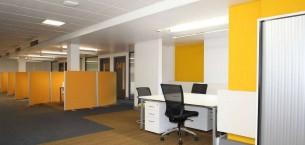 strands & balance carpet tiles at University of Worcester