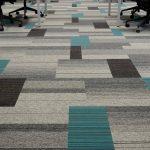 Bradford College balance atomic, lateral carpet tiles