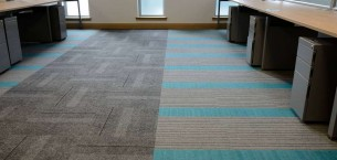 lateral®, zip & code carpet tiles at Inverclyde Council in Greenock