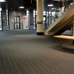 strands carpet tiles at Rothes Halls in Glenrothes