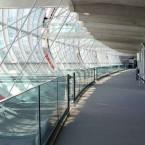 up carpet tiles at Charles de Gaulle Airport in Paris
