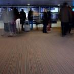 strands carpet tiles at Charles de Gaulle Airport in Paris