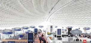 up & strands carpet tiles at Charles de Gaulle Airport in Paris