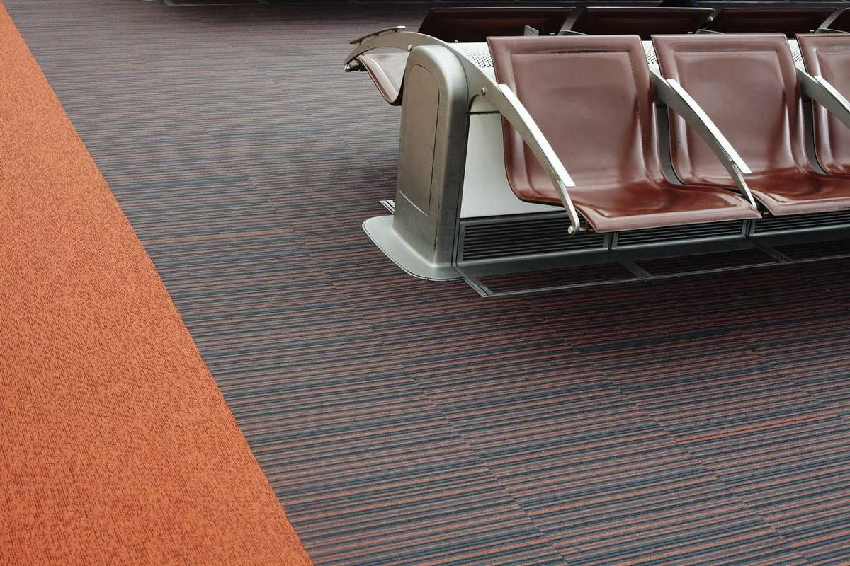 Orange Carpet Tiles And Planks From Burmatex 174