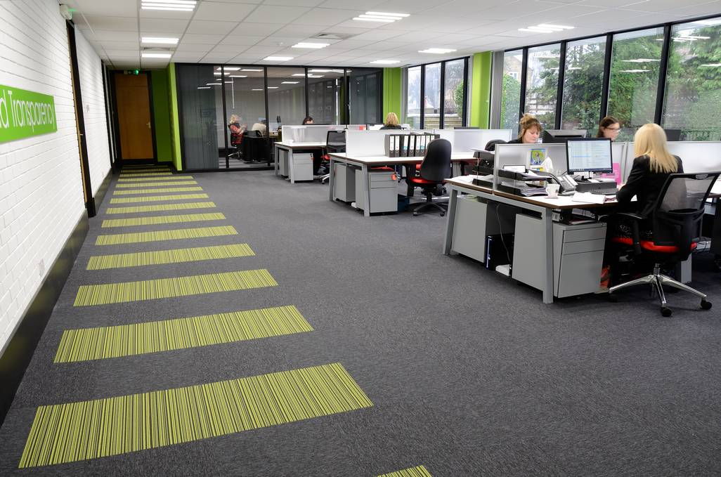 Image of: Pab Studio Offices Create Distinctive Designs With Burmatex Carpet Tiles Burmatex