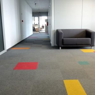 academy fibre bonded carpet tiles in Poland office