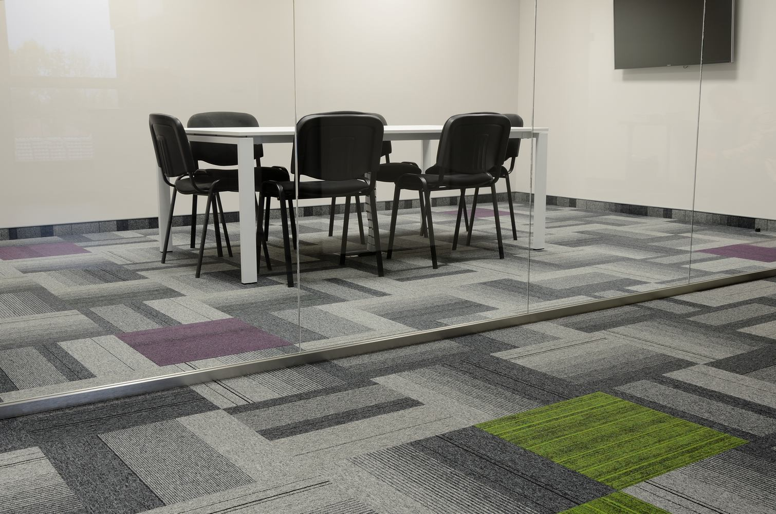 balance atomic - loop pile carpet tiles in offices