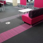 burmatex carpet tiles in Bradford College
