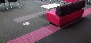burmatex carpet tiles in Bradford College