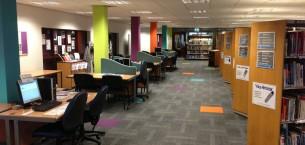 Dewsbury College structure bonded carpet tiles