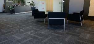 zip structure bonded carpets tiles in offices