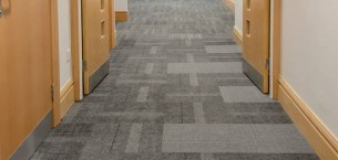 Newcastle University, structure bonded carpet tiles