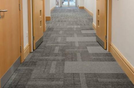 Newcastle University, structure bonded carpet tiles