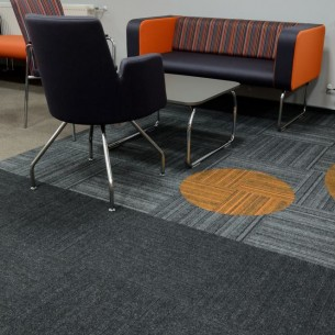 structure bonded® carpet tiles in furniture showroom