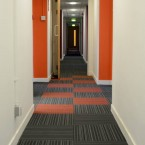 strands carpet tiles at University of Strathclyde in Glasgow
